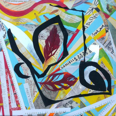 """Maze 2"" by Roxana Rojas-Luzon collage"