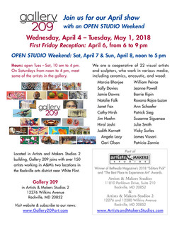 Gallery 209 Show Apr. 2018