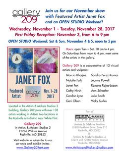 Gallery 209 Show Nov. 2017