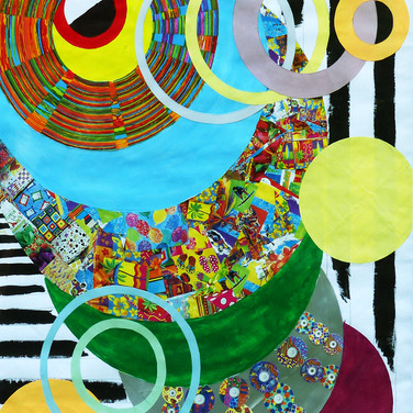 """Abstract Circles"" by Roxana Rojas-Luzon collage"