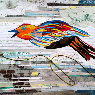 """Bird 6"" collage by Roxana Rojas-Luzon"