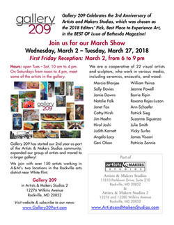 Gallery 209 Show Mar. 2018