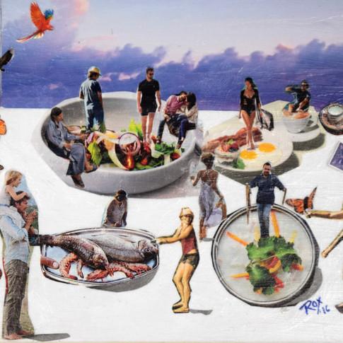 """Bon Appetit"" by Roxana Rojas-Luzon collage"