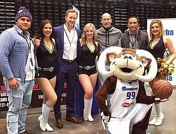 Dr. Benjamin Bjerke, a team physician with the Reno Bighorns