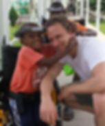 Dr. Bjerke with one of his patients in Ghana, Africa