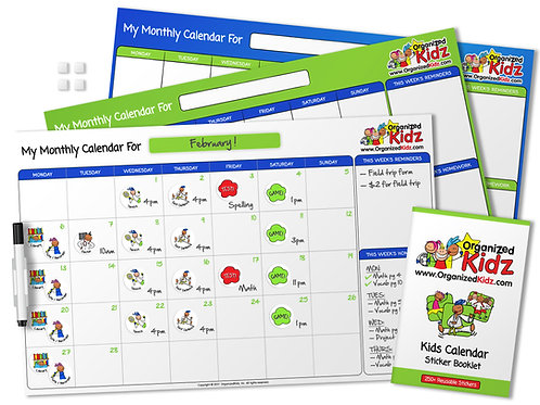 Kids Monthly Calendar