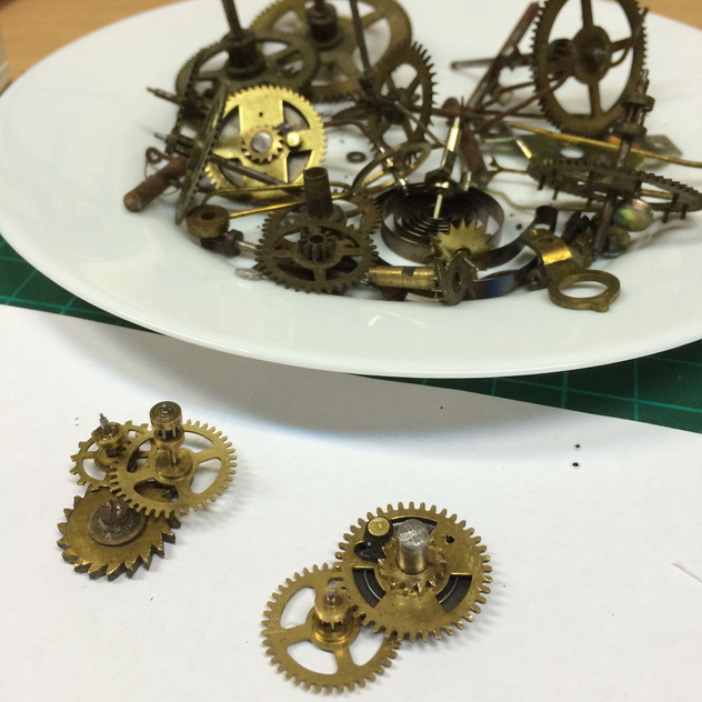 Authentic clock gears to use in my assemblage work.