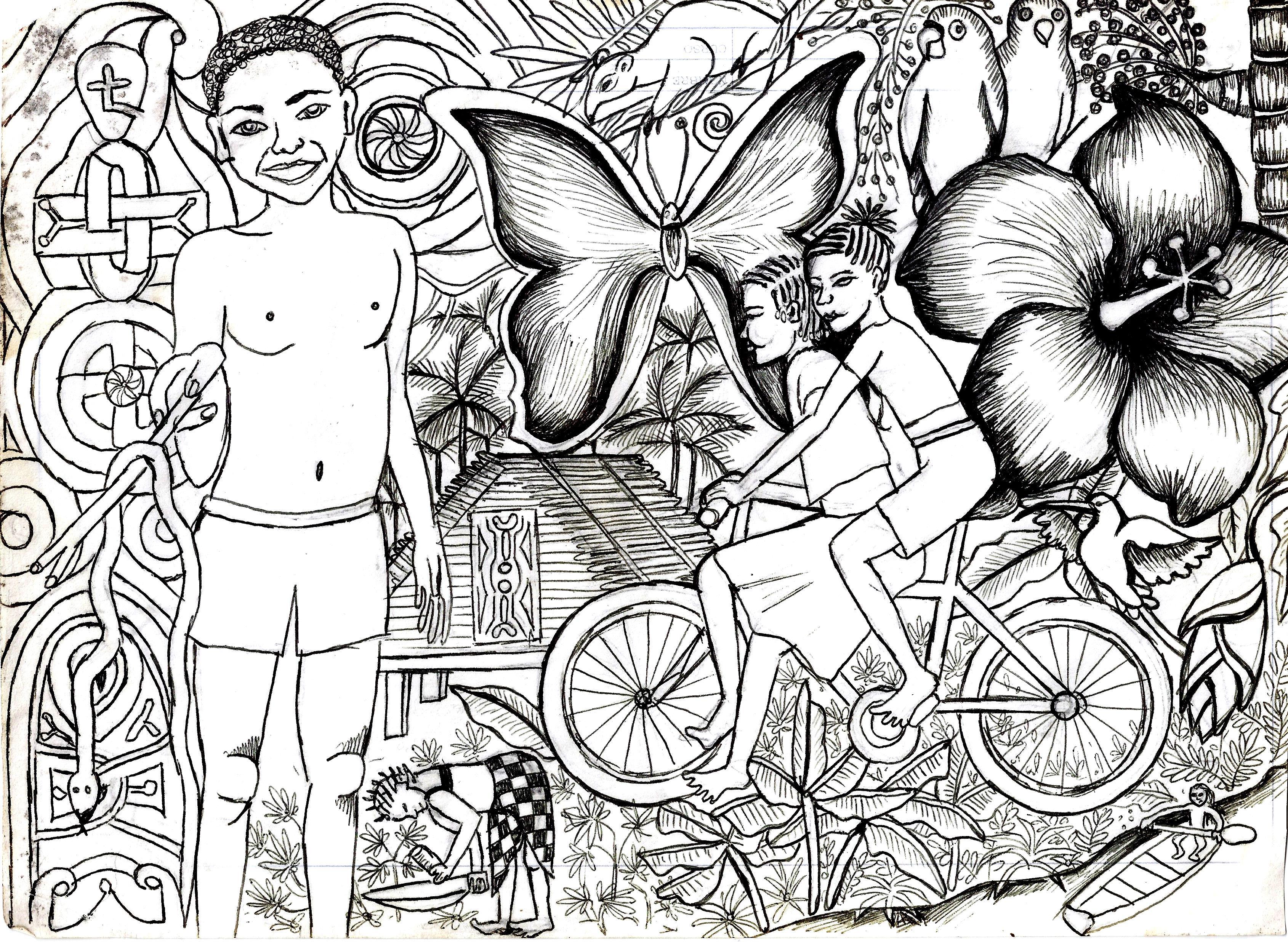 Guiana culture drawing