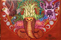 African Medicine Wheel Mural