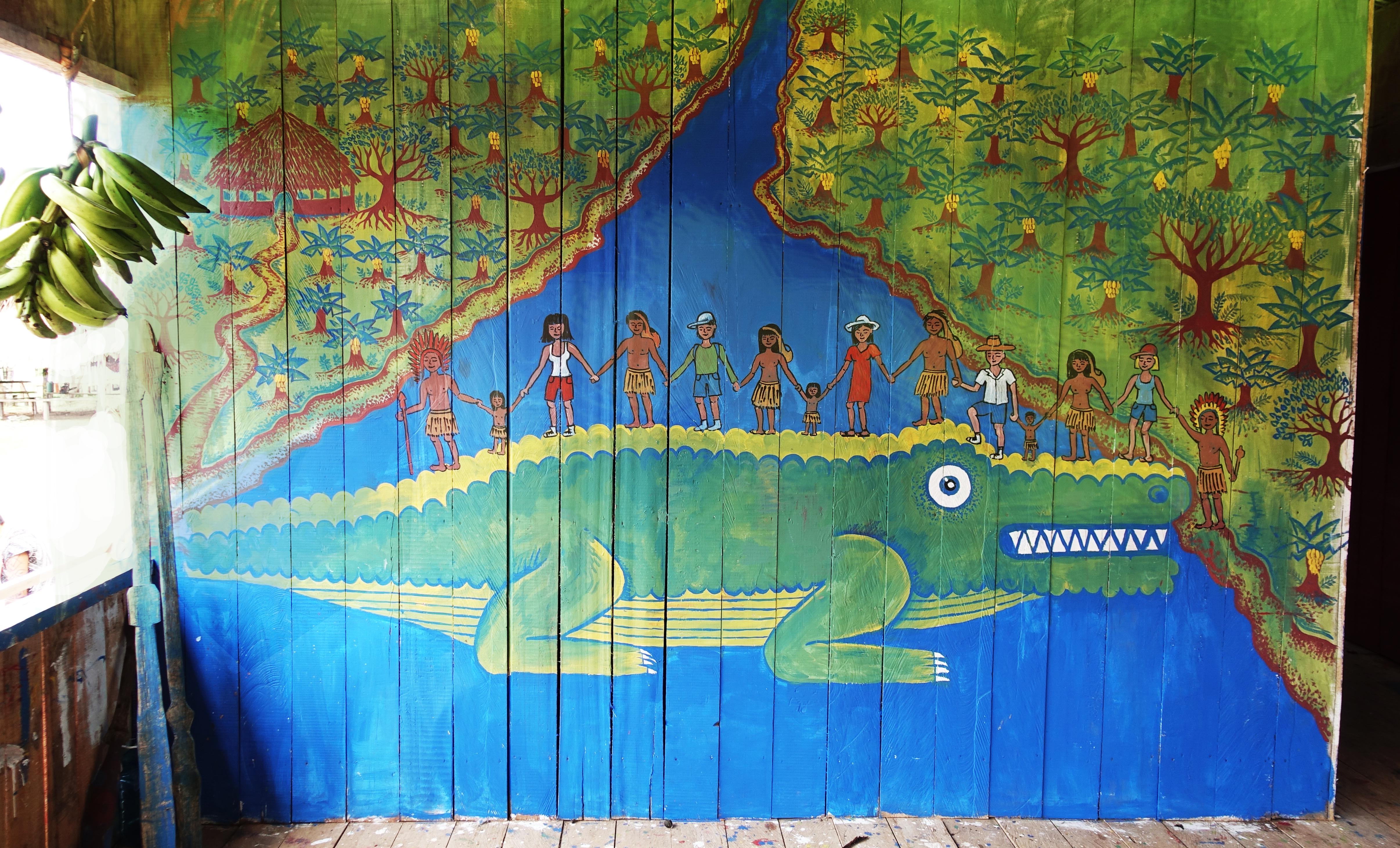 jacare mural