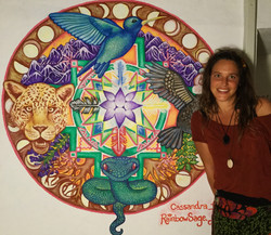 mural earth yoga