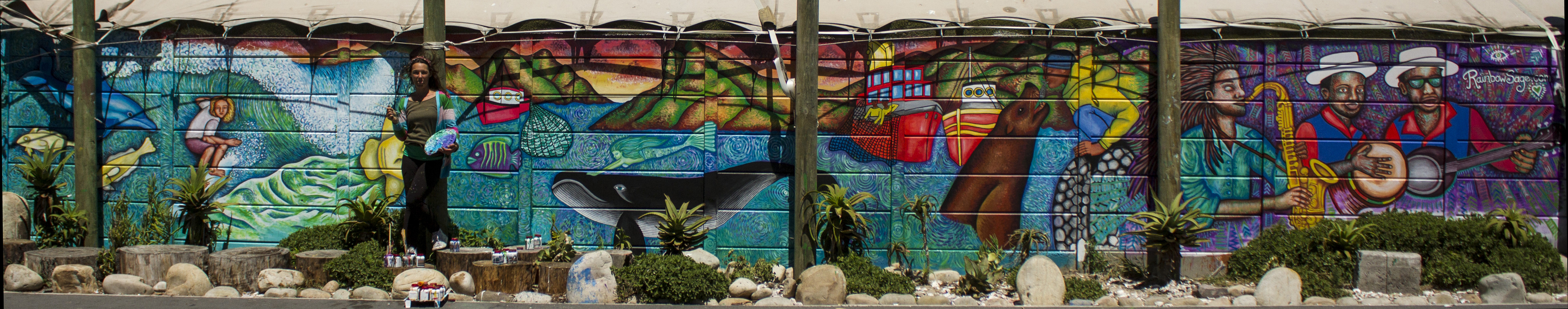 Mural at Hout Bay Harbour Market