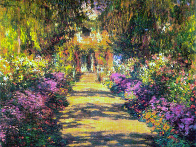 Une allée du jardin de Monet, Giverny.