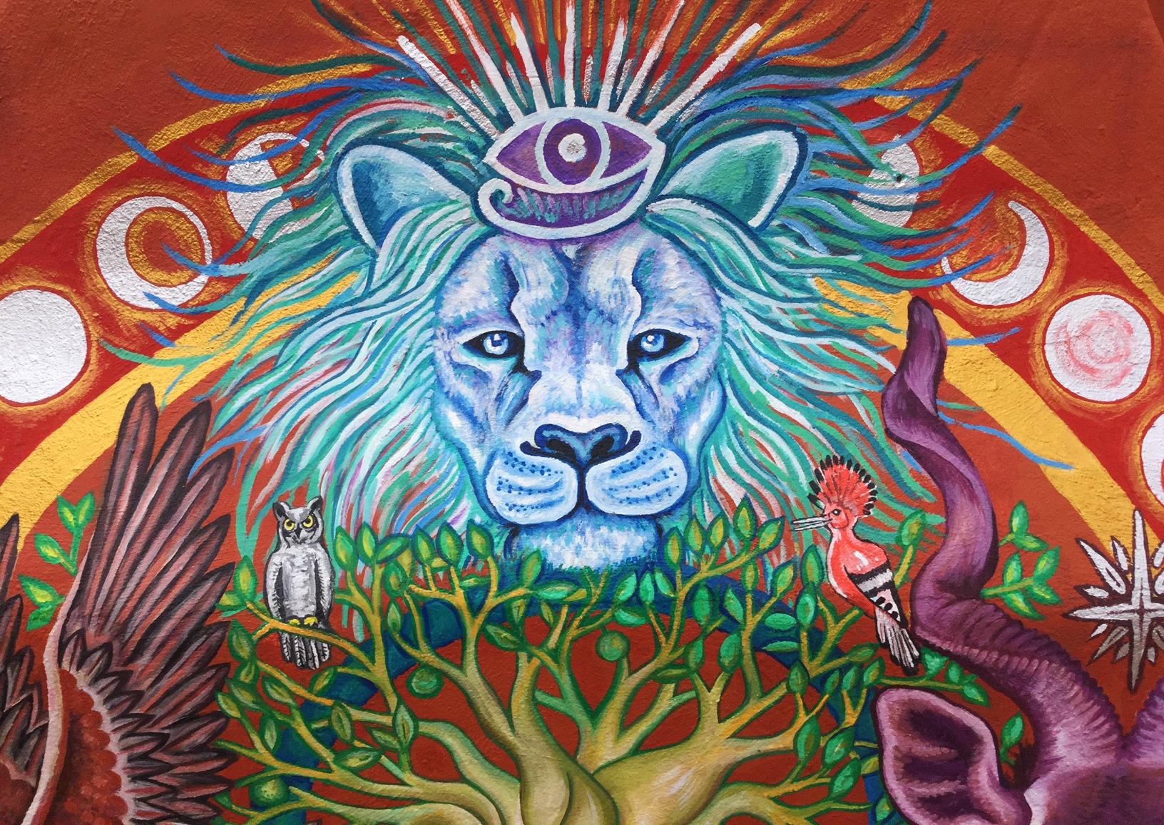 African Medicine Wheel Mural 3