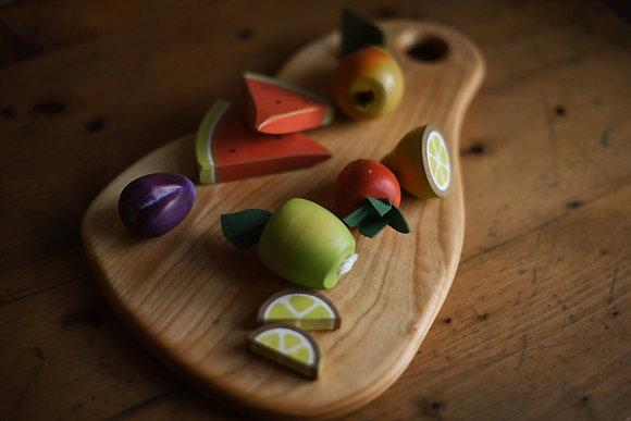 Hand Painted Fruit Set