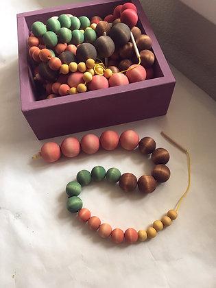 Pastel Lacing Beads