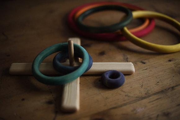 Rainbow Rings Throwing Game