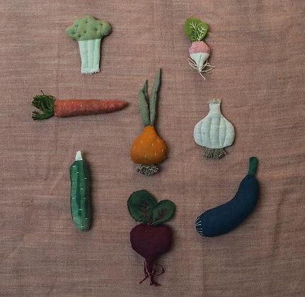 Hand Sewn Vegetable Set