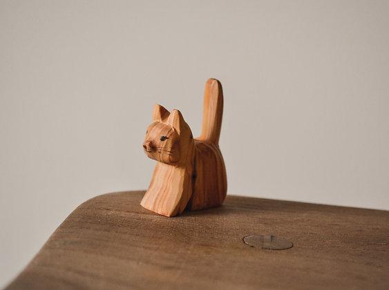 Cat Sitting - Predan Wooden Toys