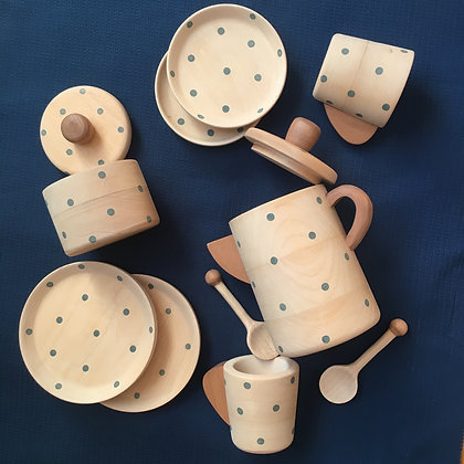 Tea Set Polka Dots