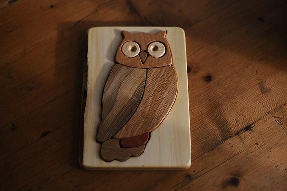Multi-Wood Puzzle - Owl