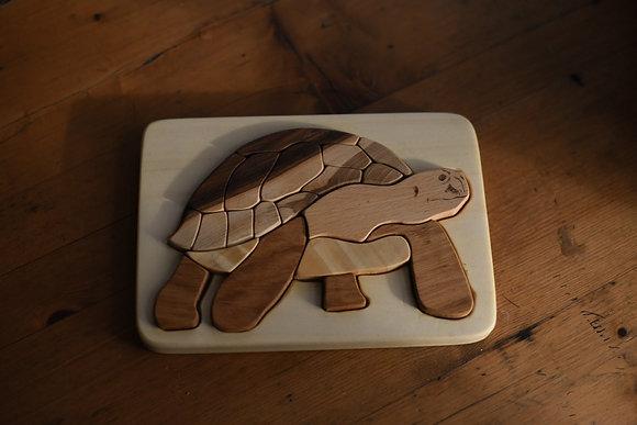 Multi-Wood Puzzle - Turtle