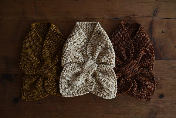 Hand Knitted Bow Scarf
