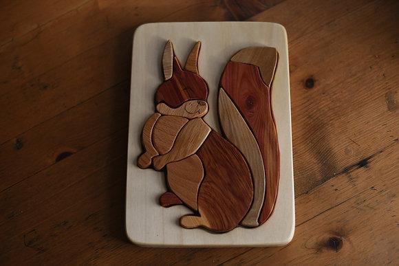Multi-Wood Puzzle - Squirrel