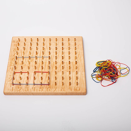 Multiplication Geoboard in Maple