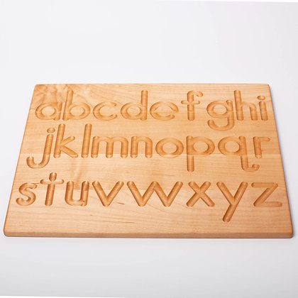 Reversible Wooden Alphabet Tracing Board