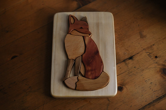Multi-Wood Puzzle - Fox