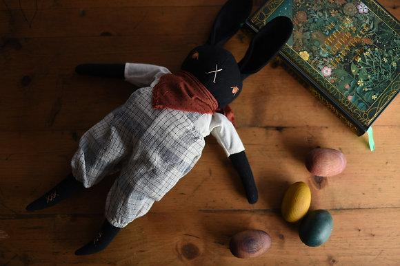 Large Black Rabbit Matteo - The Polkadot Club