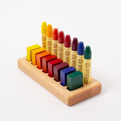 Wooden Crayon Holder 8/8 Maple or Walnut