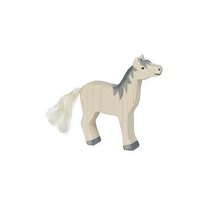 Horse - Head Raised and Grey Mane - Holztiger