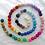 Thumbnail: Felt balls in Rainbow 20mm - 100 count