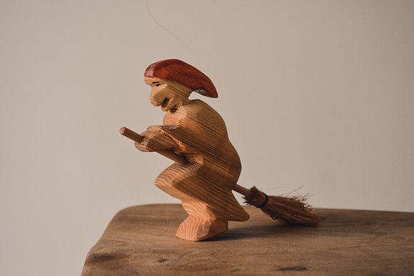 Witch on a Broomstick- Predan Wooden Toys