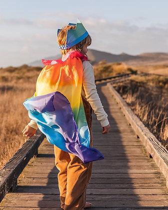 Sarah's Silks Cape - Rainbow