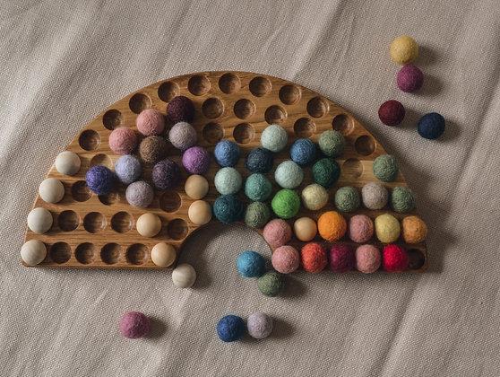 Oak Rainbow Board with Felt Balls