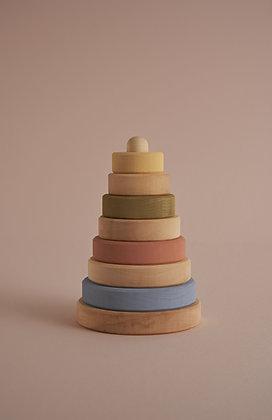 Pastel and Natural Stacking Tower - Raduga Grez