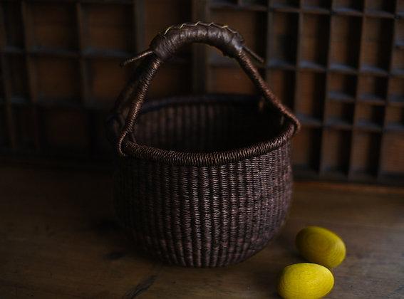 Chocolate Woven Basket
