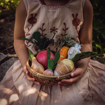 Hand Painted Vegetables Set
