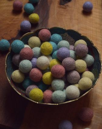 Felt balls in Pastel 20mm - 100 Count