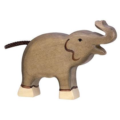 Small Elephant Trunk Raised - Holztiger