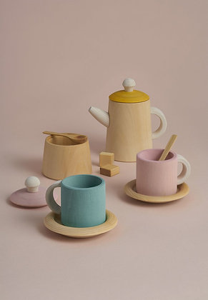 Raduga Grëz Pastel Wooden Tea Set