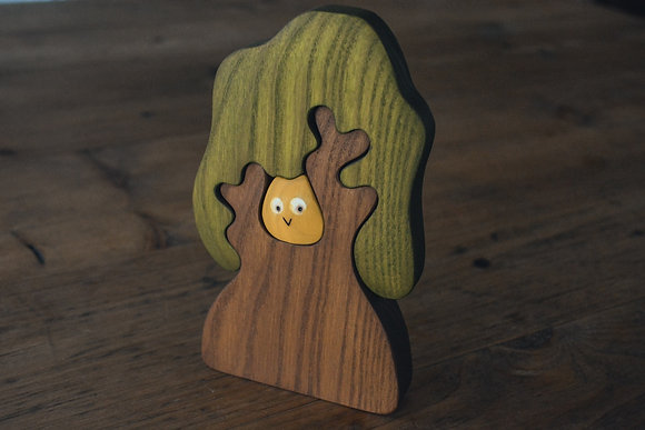 Oak Tree with Owl