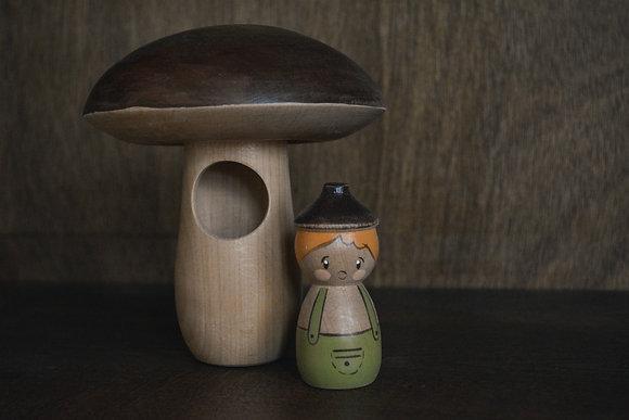 Mushroom House and Acorn Man