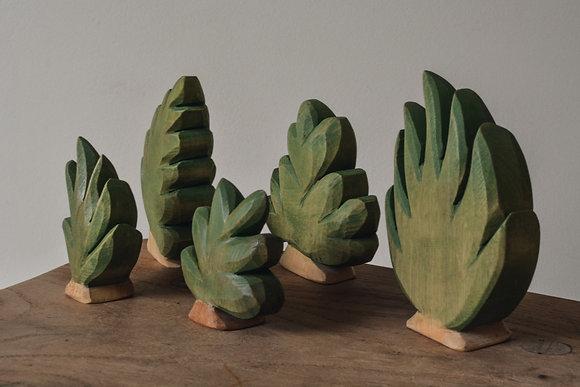 Bushes Big and Small - Predan Wooden Toys