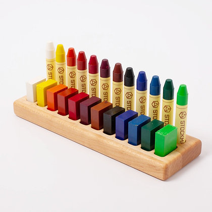 Wooden Crayon Holder 12/12 Maple or Walnut