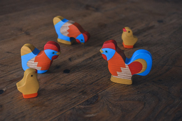 Painted Chicken Set