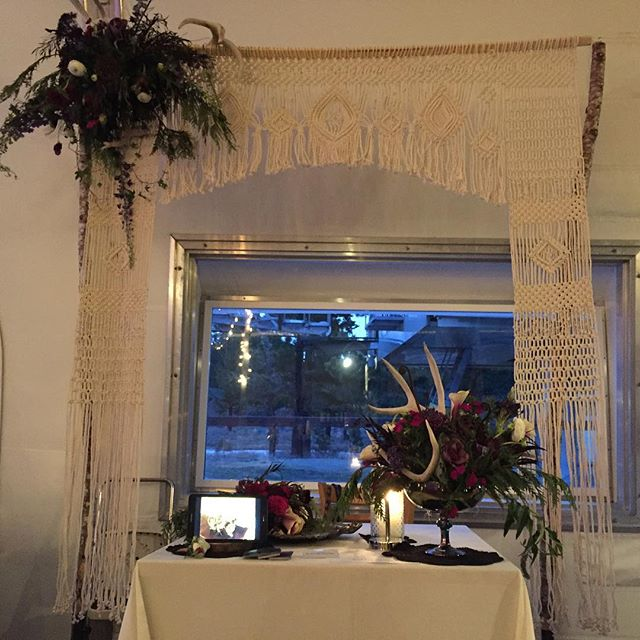 #mammothstories #weddingexpo #mammothlakes #mammothweddings #macrame #macramearch #boho #bohobride #